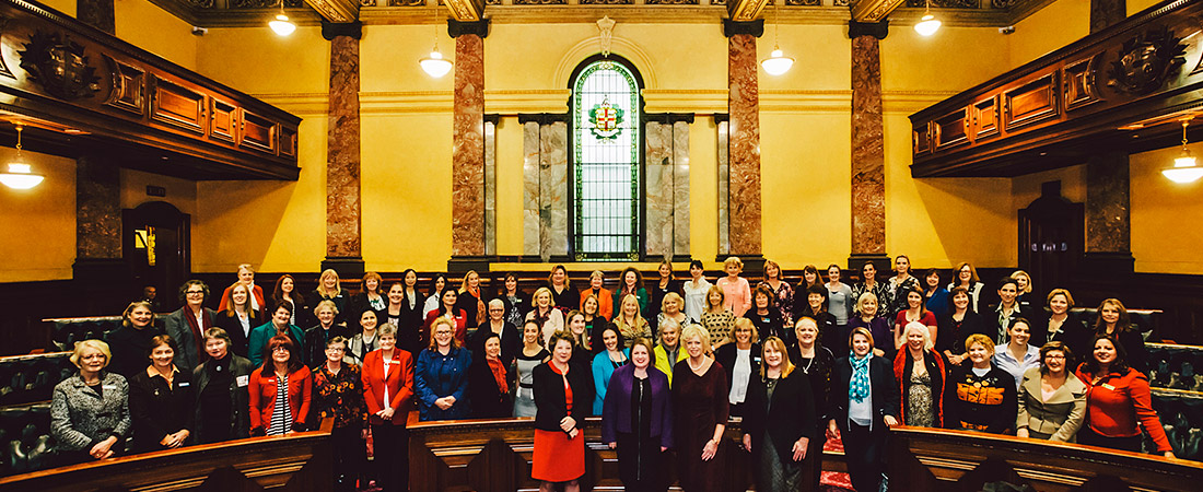 Centenary Commemoration at Melbourne Town Hall, 15 May 2015. Photo by Renée Stamatis.